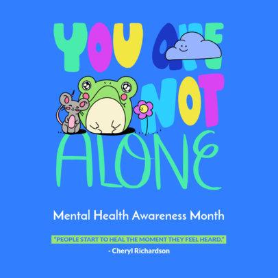Podcast Cover Design Generator for Mental Health Awareness Month 4332e