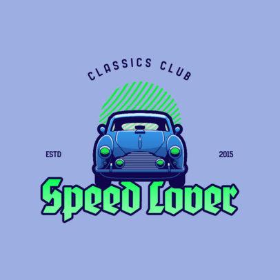 Bold Logo Generator for a Classic Automotive Club 4342c
