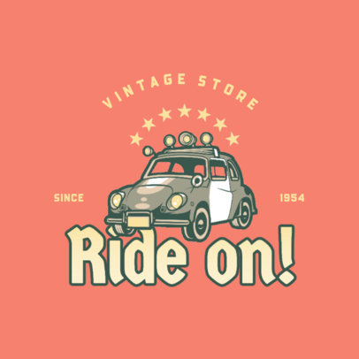 Automotive Logo Creator for a Vintage Store 4342i