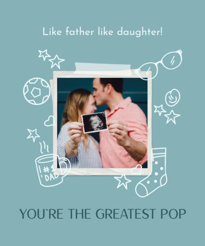 T-Shirt Design Generator for Father's Day Featuring Instant Photo Frames 3669d
