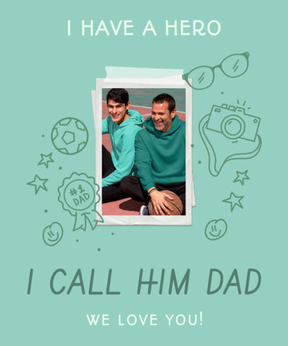 T-Shirt Design Generator With Father's Day Themed Graphics and Quotes 3669j