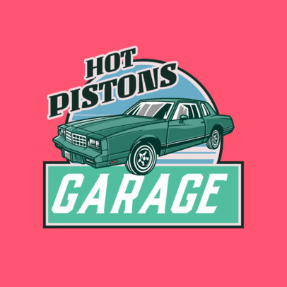 Garage Logo Maker Featuring a Classic Car Graphic 4336i