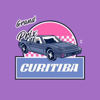 Retro-Inspired Logo Maker Featuring a Tuned Classic Car 4336j