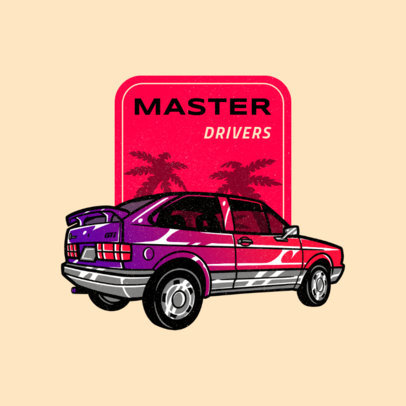 Logo Creator Featuring an 80's Style Classic Vehicle Graphic 4338b