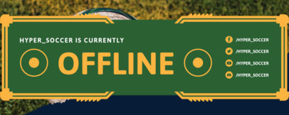 Twitch Offline Banner Maker for Soccer Streamers Featuring Colored Frames 3665a