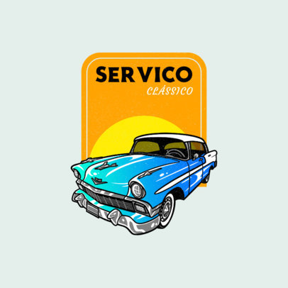 Automobile Repair Shop Logo Maker Featuring an Illustrated Muscle Car 4338f