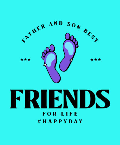 T-Shirt Design Maker for Father's Day with Son's Footprint Graphics 3668k