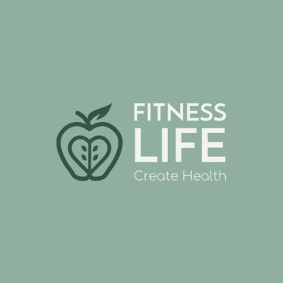 Logo Generator With a Fitness and Wellness Theme Featuring an Apple Graphic 4354c