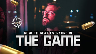 YouTube Thumbnail Design Template for a Game Hacks Video 3955c-el1