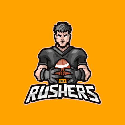 Illustrated Logo Template With a Football Theme 3975e-el1