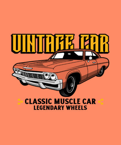 T-Shirt Design Generator with a Vintage Muscle Car Graphic 3679c