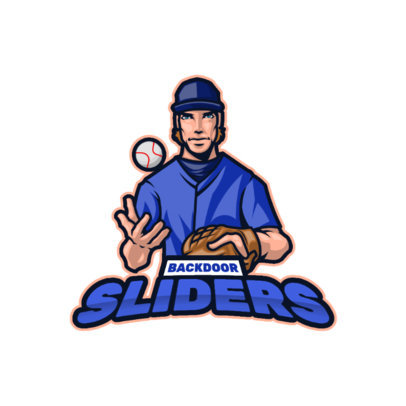 Sports Logo Generator With an Illustrated Baseball Player 3975c-el1