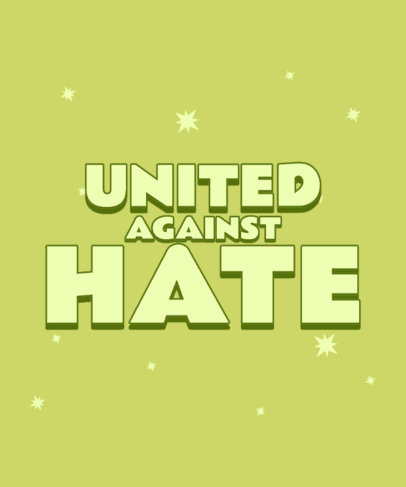 T-Shirt Design Generator with a Powerful Message Against Asian Hate 3704e