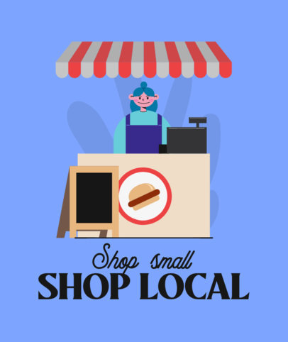 Tote Bag Design Creator for a Local Business Support Campaign 3693f