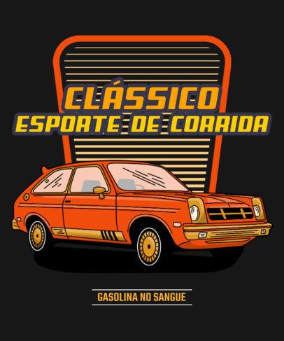 T-Shirt Design Maker Featuring a Colorful Classic Sports Car 3681a