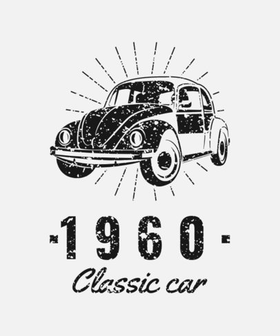 T-Shirt Design Generator with a Vintage-Style Buggy Graphic 3680b
