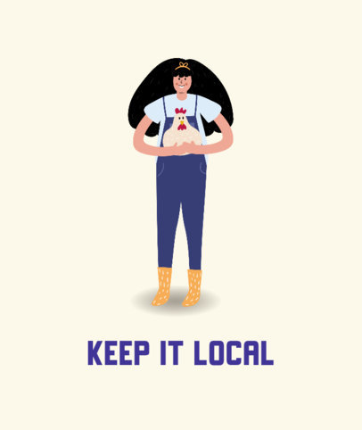 Illustrated Tote Bag Design Generator for a Local Business Support Initiative 3692b