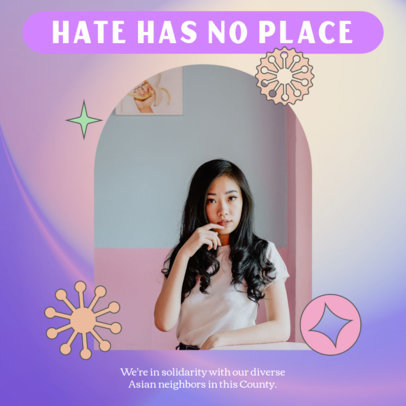 Instagram Post Maker With a Message Supporting the AAPI Community 3702f
