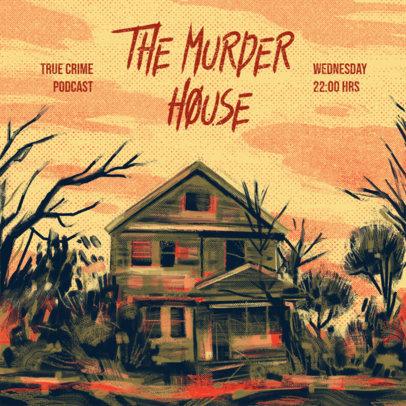 Podcast Cover Design Maker for True Crime Stories 4359
