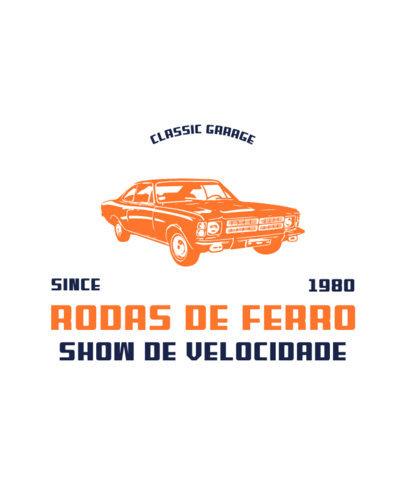 T-Shirt Design Creator for a Classic Cars Social Club 3682f