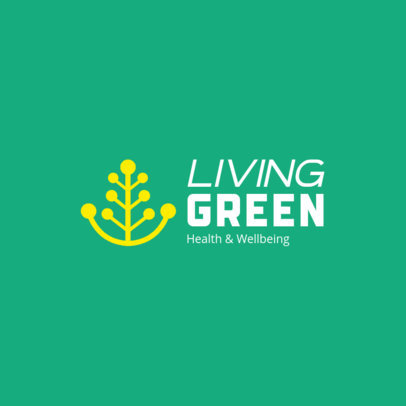 Abstract Logo Template Health With a Health and Wellbeing Theme 4354m