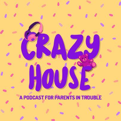 Colorful Podcast Logo Creator with a Parenthood Theme 4361e