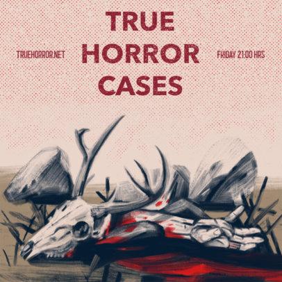 Podcast Cover Design Generator for Horror Crime Stories 4359b