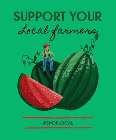 T-Shirt Design Maker Supporting Local Farmers 3694a