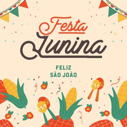 Instagram Post Maker for a Festa Junina Celebration Invite 3714