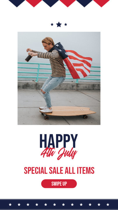 Instagram Story Maker With a 4th of July Theme 3992-el1