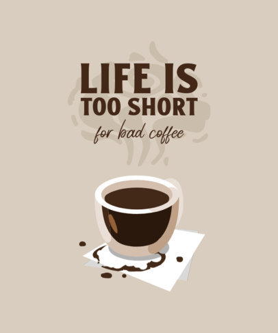 Cool T-Shirt Design Template for Coffee Enthusiasts 4006-el1