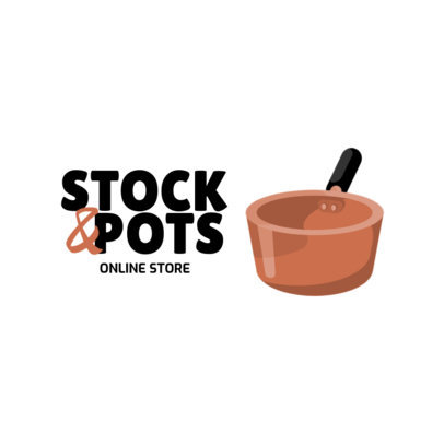Logo Maker for an Online Store with Kitchenware Graphics 3984-el1