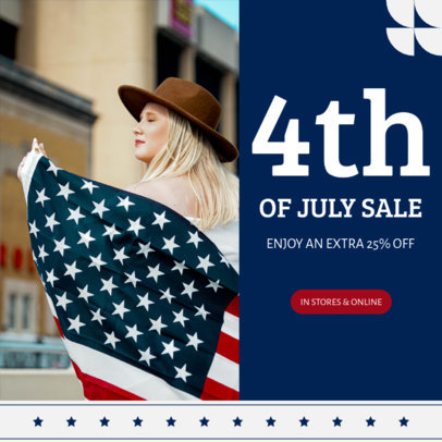 Instagram Post Generator for a Sale Announcement with a Patriotic Style 3998c-el1