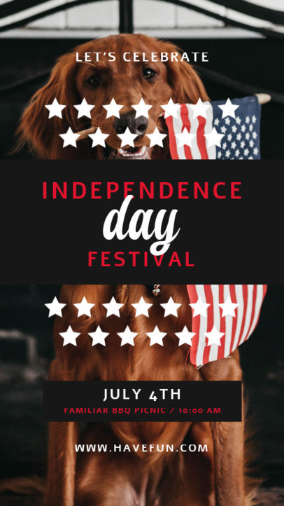 Instagram Story Design Generator for an Independence Day Festival Invitation 3994a-el1