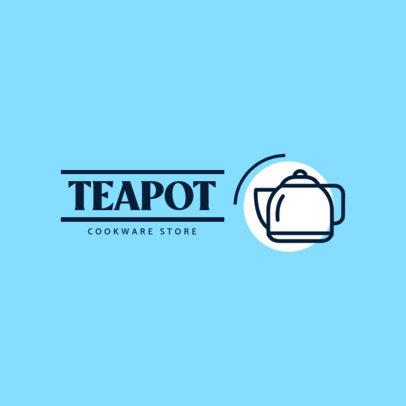 Simple Logo Template Featuring a Teapot Clipart 3982a-el1