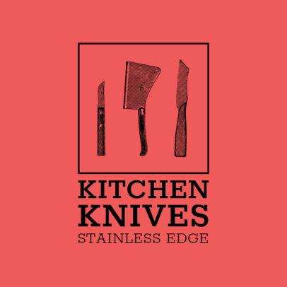 Vintage Logo Maker for a Kitchen Utensils Company 3980c-el1