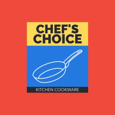 Colorful Logo Maker for a Kitchen Cookware Seller 3988A-el1