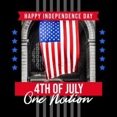 Instagram Post Creator Celebrating USA's Independence Day 3996c-el1