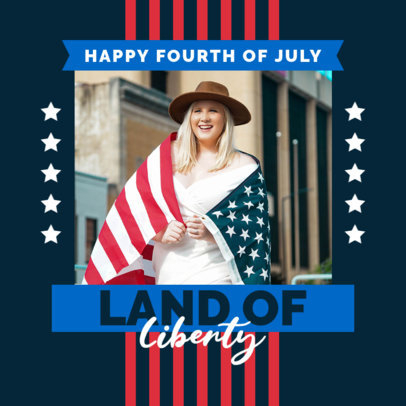 Patriotic Instagram Post Generator for USA's Independence Day 3996e-el1