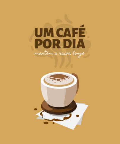 Coffee-Themed T-Shirt Design Creator with a Wholesome Quote 4006e-el1