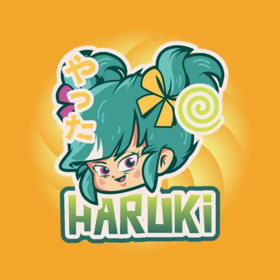 Anime Logo Template Inspired by Dragon Ball 4376b