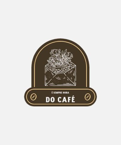 Retro T-Shirt Design Creator with a Surreal Coffee Icon 4002b-el1