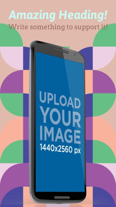 Android Screenshot Generator Nexus Phone in Portrait Position a16015