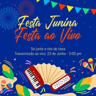 Festive Instagram Post Generator for a Festa de São João Holiday 3714b