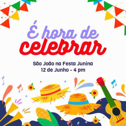Instagram Post Creator for a Virtual Festa de São João Invitation 3714c
