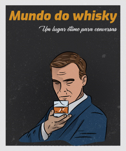 T-Shirt Design Maker Looking Like a Vintage Whiskey Ad 3723a