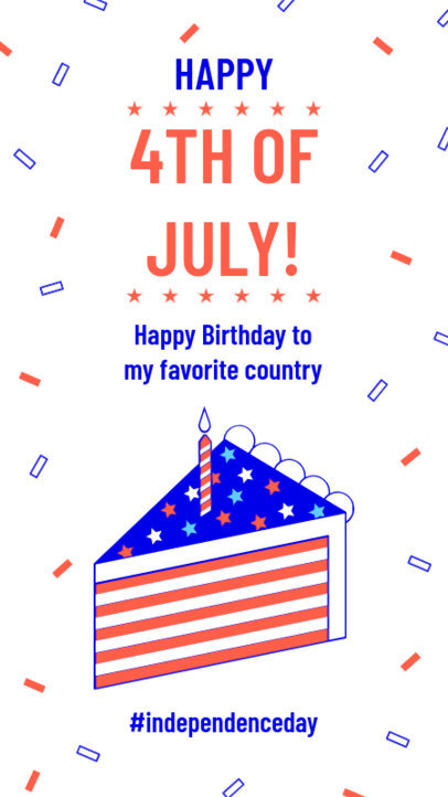 Instagram Story Maker for 4th of July Themed Graphics and Quotes 3752