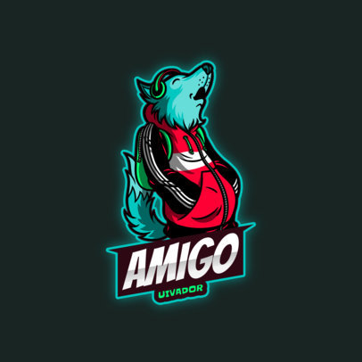eSports Logo Maker Featuring a Furry Character 4388