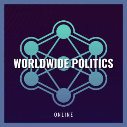 Podcast Cover Generator for a World Politics-Themed Show 4398g