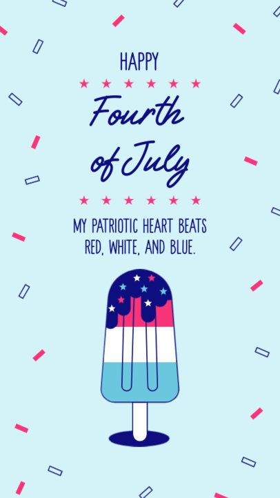 Instagram Story Template to Celebrate 4th of July Featuring a Patriotic Quote 3752g